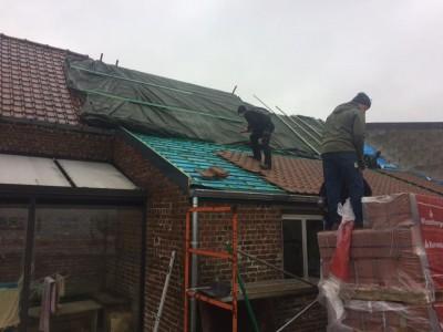 Bâchage en urgence suite à un incendie suivit de la rénovation